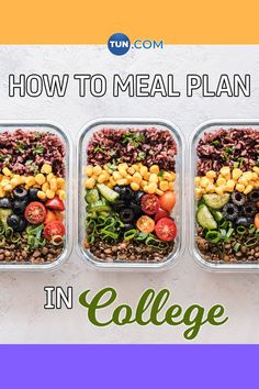 Meal plan in college to eat healthy and save money! Eat Healthy, Zucchini, Saving Money, Meal Planning, Budgeting, College, Meals, How To Plan, Vegetables