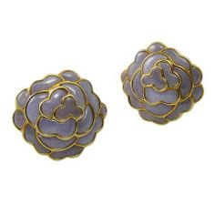 Angela Cummings Lavender Jade Camellia Earrings