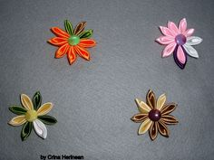 Kanshashi flower brooch