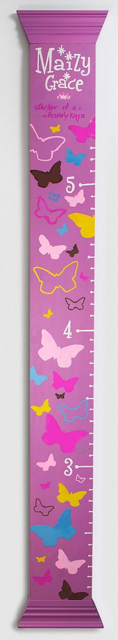 Custom Children's Growth Chart by LeahGoodDesign on Etsy, $65.00