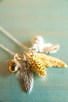 Woodlands Necklaces Handmade by BareandMe on Etsy - the perfect bridesmaid's gift for a winter wedding!