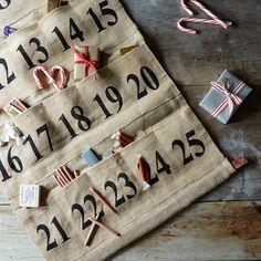 Burlap Advent Calendar