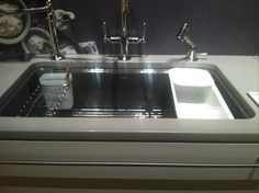 Kitchen sink with more built-ins. Keeps you organized!