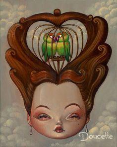 Lovebirds by Bob Doucette #popsurealism