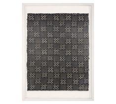 Mali Textile Framed Print #potterybarn Free Interior Design, Interior Design Services, Pottery Barn Wall Art, Textile Prints, Textiles, Wall Art Prints, Framed Prints, Mirror Art, Shop Lighting