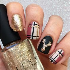 Fall Nail Designs - Searching for Diy fall nails thought too? Now we have gathered up 40 . Fall Nail Designs - Searching for Diy fall nails thought too? Now we have gathered up 40 . Fall Nail Designs - Searching for Diy fall nails thought . Christmas Nail Art Designs, Winter Nail Designs, Plaid Nail Designs, Nail Polish Designs, Cute Nail Designs, Christmas Design, Autumn Nails, Winter Nail Art, Nail Ideas For Winter