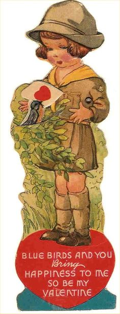 Vintage Girl Scout Valentine. Great clip art. check out my blog for more great clip art and the story of my VINTAGE TROOP! www.girlinthejitterbugdress.com #valentine #girlscout