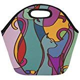 Insulated Lunch Tote Bag Colorful African Cats Reusable Neoprene Portable Lunchbox Handbag For Men Women Adult Kids Boys Girls African Cats, Insulated Lunch Tote, Lunch Tote Bag, Handbags For Men, Kids Boys, Boy Or Girl, Lunch Box, Colorful, Girls
