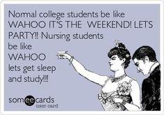 Welcome to nursing school..