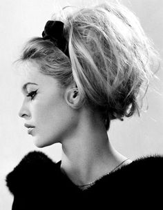 Bridget Bardot-I have always identified with her hair...never perfect and always a bit dissheveled... love it.