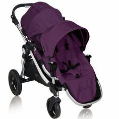 Baby Jogger 2011 City Select Stroller with Second Seat Kit in Amethyst. The City Select utilizes a patented attachment method that allows you to adjust your stroller seating as your family grows. And with Baby Jogger's patented Quick Fold Technology, this stroller's convenience is doubled by making it the only in-line stroller to fold flat in one simple step. $669.94