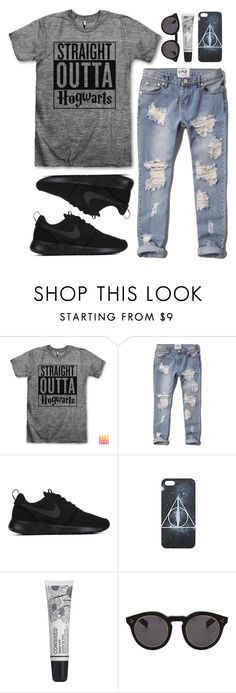 """straight outta hogwarts"" by lily15 ❤ liked on Polyvore featuring Abercrombie & Fitch, NIKE, Cowshed and Illesteva"