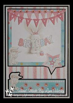 Delphinoid's Cards and Craft: A5 Size Card - BeBunni Birthday