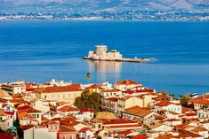 Ναύπλιο Flyer Design Inspiration, City, Places, Painting, Travelling, Restaurants, Castle, Drink, Greece