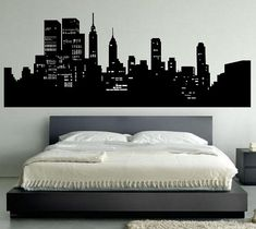 1000 images about ideas for bedroom on pinterest new for Cityscape bedroom ideas