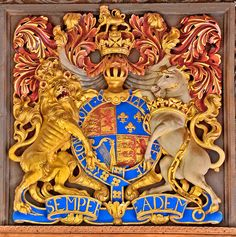 Coat of Arms of The Royal Chapel of St.George, Windsor c.1710, St.Mary's, Nether Stowey, Somerset.