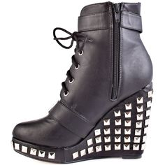 Abbey Dawn Hell Yeah Wedge Bootie - Black I need these so much Open Toe Boots, Wedge Ankle Boots, Black Ankle Boots, Black Booties, Walk In My Shoes, New Shoes, Crazy Shoes, Me Too Shoes, Shoe Show
