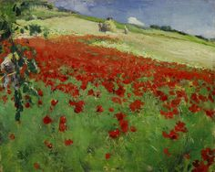 William Blair Bruce Landscape with Poppies, 1887 Oil on canvas Art Gallery of Ontario Canadian Painters, Canadian Artists, Landscape Art, Landscape Paintings, Art Gallery Of Ontario, Johann Wolfgang Von Goethe, Art Day, Art History, Oil On Canvas