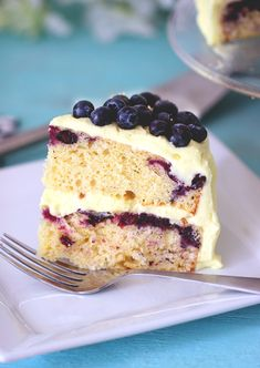 Blueberry Cake With Lemon Whipped Cream Frosting | Community Post: 25 Layered Cakes That Are On A Whole Different Level