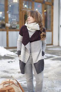 """Fiona Coat,"" by Justyna Lorkowska, knit in Swans Island All American Sport."