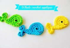 Easy crochet whale applique tutorial - on a baby hat? make into a stuffed toy? so many cute things!