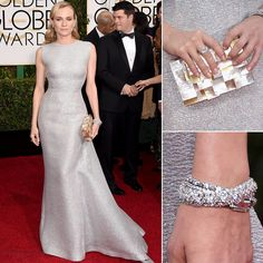 Diane Kruger stuns in a wedding worthy look #EmiliaWickstead #GoldenGlobes