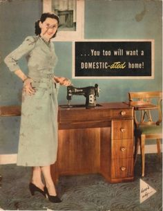 Domestic Sewing Machine Catalog You Too Will Want A Domestic Ated Home 1950s | eBay