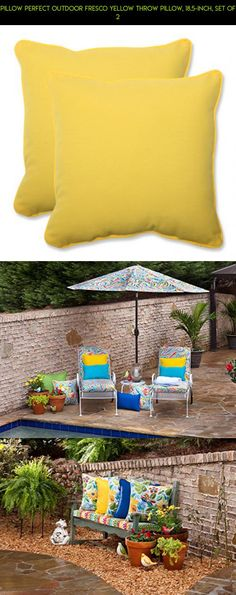 Pillow Perfect Outdoor Fresco Yellow Throw Pillow, 18.5-Inch, Set of 2 #racing #tech #patio #furniture #shopping #fpv #pillows #parts #kit #camera #plans #gadgets #drone #products #technology