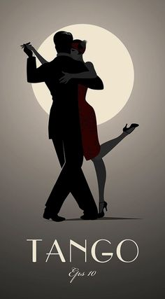 Tango by moonlight. Romantic, sensual and sexy when you dance the dance of the heart in the streets of Buenos Aires and you can feel the Tango take over your body. Shall We Dance, Just Dance, Tango Art, Tango Dancers, Dancing Drawings, Art Deco Posters, Dance Posters, Film Posters, Retro Poster