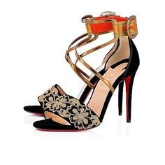 42d66793b460 Shoes - Sabina 100 Fabric - Christian Louboutin Ankle Strap Shoes