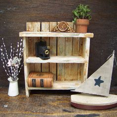 Dollhouse Miniature Shelf