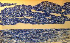 Mirada hacia el mar y el cielo sin que importe el tiempo... #misdibujos #dibujoaboli #creatividad #prisma #konnectare