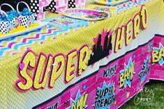 Girly SuperHero Party   CatchMyParty.com
