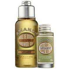 Almond Indulgence Duo - L'Occitane   $16  2.5 oz Almond Shower Oil, 0.5 oz Almond Supple Skin Oil