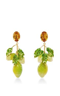 Crystal Clip On Lemon Earrings by DOLCE & GABBANA Now Available on Moda Operandi