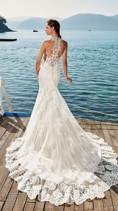 Eddy K. Dreams 2019 Wedding Dresses eddy k 2018 bridal sleeveless halter sweetheart neckline full embellishment elegant glamorous fit and flare wedding dress rasor back chapel train bv — Eddy K. Wedding Dress Low Back, Fairy Wedding Dress, Fit And Flare Wedding Dress, Bohemian Wedding Dresses, Stunning Wedding Dresses, Princess Wedding Dresses, Designer Wedding Dresses, Beautiful Gowns, Wedding Dress Styles