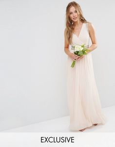 5926d9bee499 TFNC WEDDING Pleated Embellished Maxi Dress