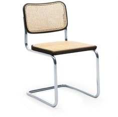 Three years after designing his iconic Wassily Chair, which is believed to be the first bent tubular steel chair design, Marcel Breuer created the Cesca Chair Knoll Chairs, Room Chairs, Side Chairs, Office Chairs, Steel Furniture, Cool Furniture, Furniture Design, Table Design, Chair Design