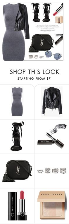 """""""Dressy Side"""" by genuine-people ❤ liked on Polyvore featuring Schutz, Bobbi Brown Cosmetics, Yves Saint Laurent, Forever 21 and Marc Jacobs"""