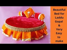 Most beautiful/comfortable/Bed/singhasan for Laddu Gopal Cd Crafts, Vase Crafts, Diy Crafts To Do, Paper Crafts Origami, Diy Crafts Hacks, Foam Crafts, Diy Arts And Crafts, Diy Projects, Janamashtami Decoration Ideas