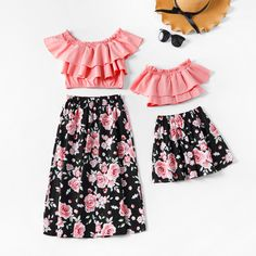 * Please add each size separately to your shopping cart * Soft and cozy * Material: Cotton * Machine wash, tumble dry * Imported Mother Daughter Matching Outfits, Mommy And Me Outfits, Cute Girl Outfits, Matching Family Outfits, Cute Outfits For Kids, Cute Summer Outfits, Cute Casual Outfits, Fashion Kids, Fashion Outfits