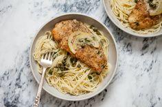 Tonight I made Chicken Piccata with Angel Hair Pasta. [OC] #tonightsdinner #nofilter #homemade #yummy #veggie #topchefs