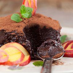 Deep Dark Chocolate Mousse - Diabetic Friendly Recipe from The Lebanese Kitchen Diabetic Desserts, Köstliche Desserts, Diabetic Recipes, Delicious Desserts, Cooking Recipes, Cake Recipes, Dessert Recipes, Yummy Recipes, Dark Chocolate Mousse