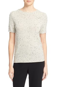 Theory 'Tolleree' Short Sleeve Cashmere Sweater available at #Nordstrom