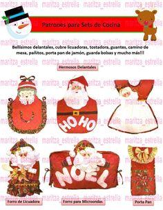 Kit Patrones Lenceria Navidad Juegos De Baños Muñecos Arbol - Bs. 350,00 en Mercado Libre