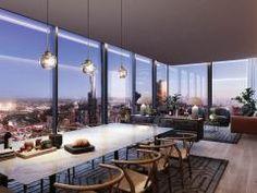You Wish: Penthouse luxury in Melbourne CBD Collins House, penthouse. New York Penthouse, Luxury Penthouse, Luxury Apartments, Luxury Homes, Penthouse Apartment, Apartamento New York, Home Room Design, House Design, Melbourne Cbd