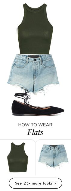 """""""Untitled #1"""" by shermonaallen on Polyvore featuring Topshop, T By Alexander Wang and Gianvito Rossi"""