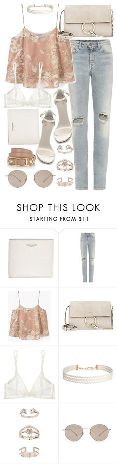 """""""Untitled #20107"""" by florencia95 ❤ liked on Polyvore featuring Yves Saint Laurent, MANGO, Chloé, Stuart Weitzman, Yasmine eslami, Humble Chic, Topshop, Gucci and Balenciaga"""