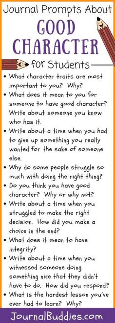 Teaching kids to have good morals and values is tough, but is one of the most important jobs that parents and teachers have. As your child works on these simple character building activities, they'll learn more about values, morals, and character. Character Activities, Teaching Character, Good Character, Writing Prompts For Kids, Writing Strategies, Writing Skills, Student Teaching, Teaching Kids, Student Leadership