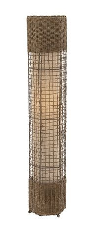 Customary Styled Metal Rattan Floor Lamp